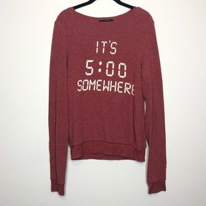 Wildfox It's 5:00 Somewhere Pullover Size XS